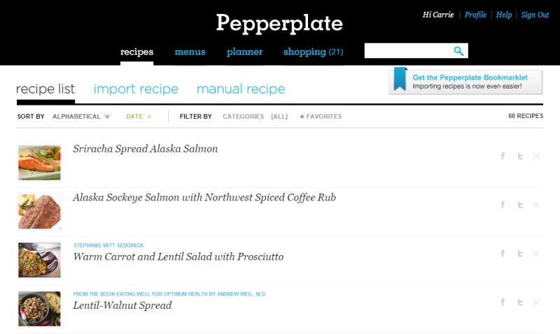 Pepperplate Recipes