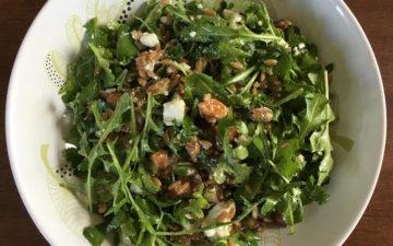 Farro Pistachio Arugula Salad