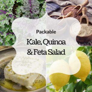 recipe kale quinoa feta salad