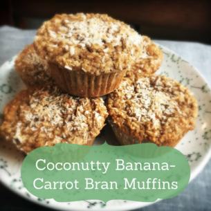 banana carrot bran muffin